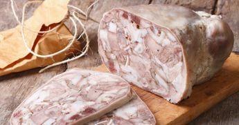 fromage de tête, tête de porc, langue de porc, pieds de porc, plat