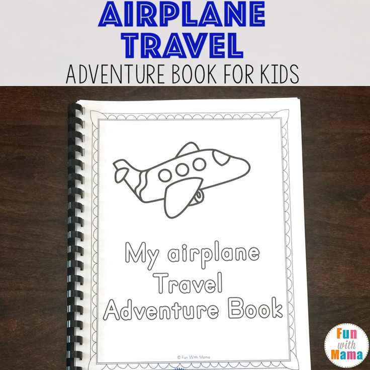 Free printable airplane travel activity book for kids with coloring pages, journal pages, activity worksheets and more fun ideas while at the airport.
