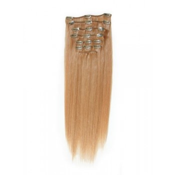 24 inches Golden Brown(#12) 7 pieces Clip In Human Hair Extension
