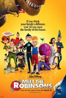 """Disney-Pixar's """"Meet The Robinsons"""" (dir. Stephen J. Anderson, 2007) --- If you think your family's different, wait 'til you meet the family of the future! Lewis is a brilliant inventor who meets mysterious stranger named Wilbur Robinson, whisking Lewis away in a time machine and together they team up to track down Bowler Hat Guy in a showdown that ends with an unexpected twist of fate."""