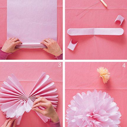 Une feuille de papier transformée en fleur - Marie Claire Maison