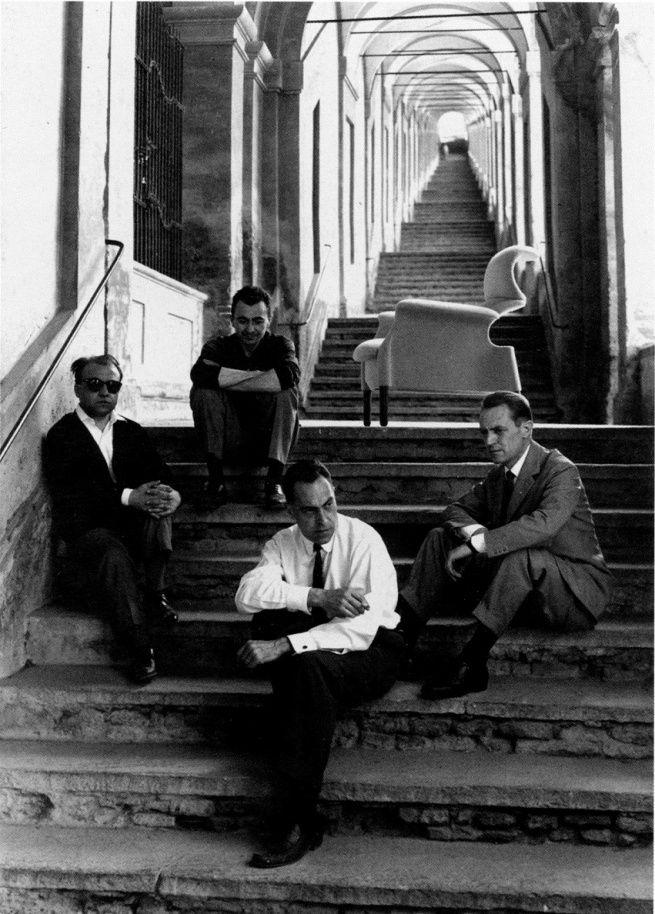 I fratelli Castiglioni, Gavina e Provinciali al portico di San Luca, con la…