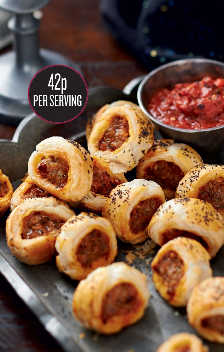 Team spicy Spanish sausage with light and crisp pastry for a fiery tapas extravaganza. The spicy dipping sauce is great with pasta, too.