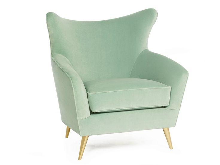 Upholstered velvet armchair SOPHIA Time Collection by Munna
