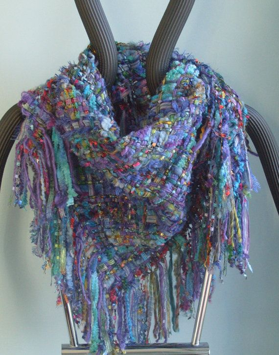 Handwoven scarf - glorious colors