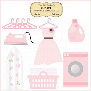 Pink Laundry Room Clip Art