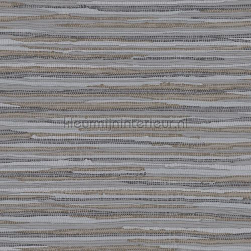 Geweven katoen kleed donkergrijs behang 140-148 619 uit de collectie Cabana van Esta home voordelig bij kleurmijninterieur