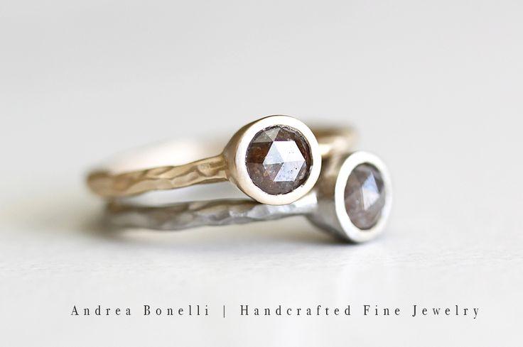 Rose Cut Diamonds & 14k Gold    Andrea Bonelli Jewelry