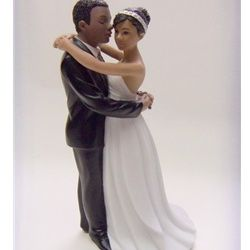 First Dance African American Couple Wedding Cake Topper ChipotleWeddingSweepstakes