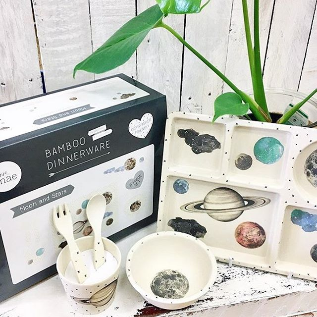 We love this Bamboo Set to the moon and back! There aren't too many left though, but luckily the wonderful people at @ecochild still have a few in stock! #lovemaestudio #ecochild #moonandstars