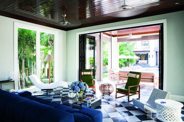 An Open-Air Lounge  - ELLEDecor.com