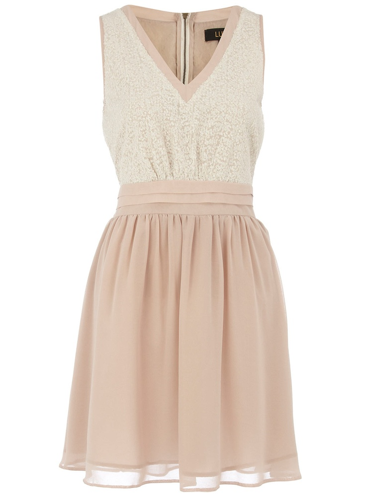 Dorothy Perkins Ivory Sequin Bodice Dress