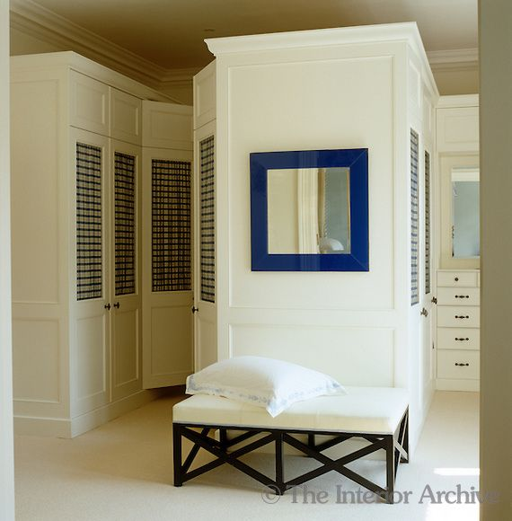 Jeffrey Bilhuber Purpose Built White Cupboards In The