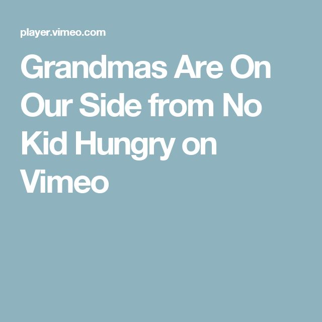 Grandmas Are On Our Side from No Kid Hungry on Vimeo These women are why America is great & has been, beautiful everyday American women doing what should be done.♡♡♡♡♡♡♡♡