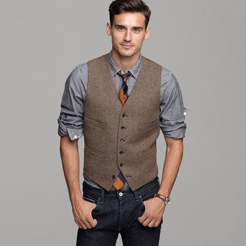 Vest love: Herringbone Vest, Men S Fashion, Style, Wedding Ideas, Mens Fashion, Men'S, Harvest Herringbone, Mensfashion, Jcrew