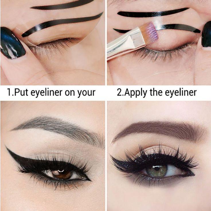 Eyeliner Template Kaart Eyeliner Stencil Oogschaduw maquiagem Naked Palet Contour Palette Make Pallete Eye Liner Gereedschap Knits