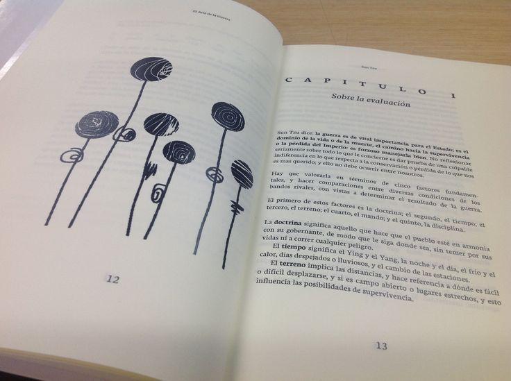 El arte de la Guerra. Diseño editorial para el curso de Diagramación del programa TCGR-Uniminuto. Estudiante Natalia Castillo / Mayo de 2016