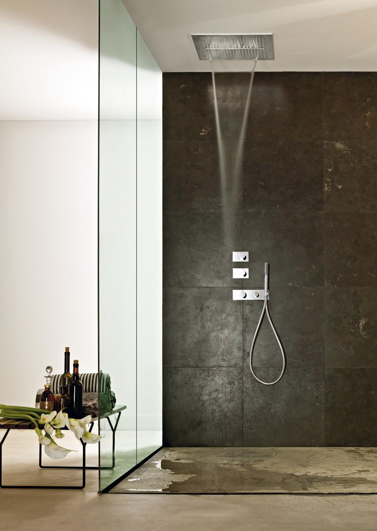 Design by Franco Sargiani for Fantini. ACQUA ZONE: ceiling shower head with rain and waterfall. ACQUA ZONE DREAM: new generation ceiling shower head, with electronic controls and six different moods of water and light. #fantini #fantinirubinetti #doccia #shower #bagno #bathroom #bathroominterior #design #homeideas interiordesign