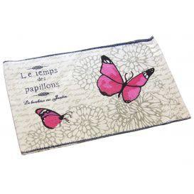 Alfombra estampada de algodón 50x80 Papillons