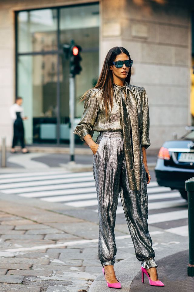 0868db3b9 The Coolest Metallic Outfits We're Trying This Fall   WhoWhatWear.com    Bloglovin'
