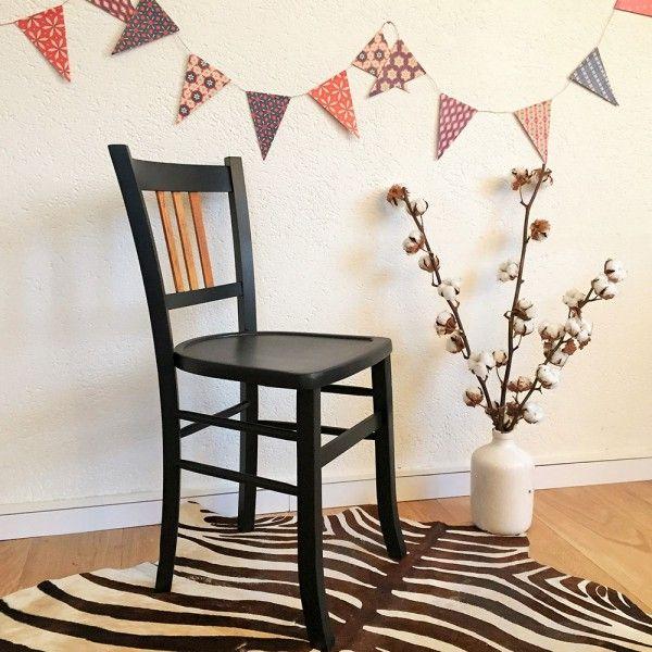 chaise bistrot vintage baumann noire adele 1 chaises pinterest chaises chaises bois et. Black Bedroom Furniture Sets. Home Design Ideas