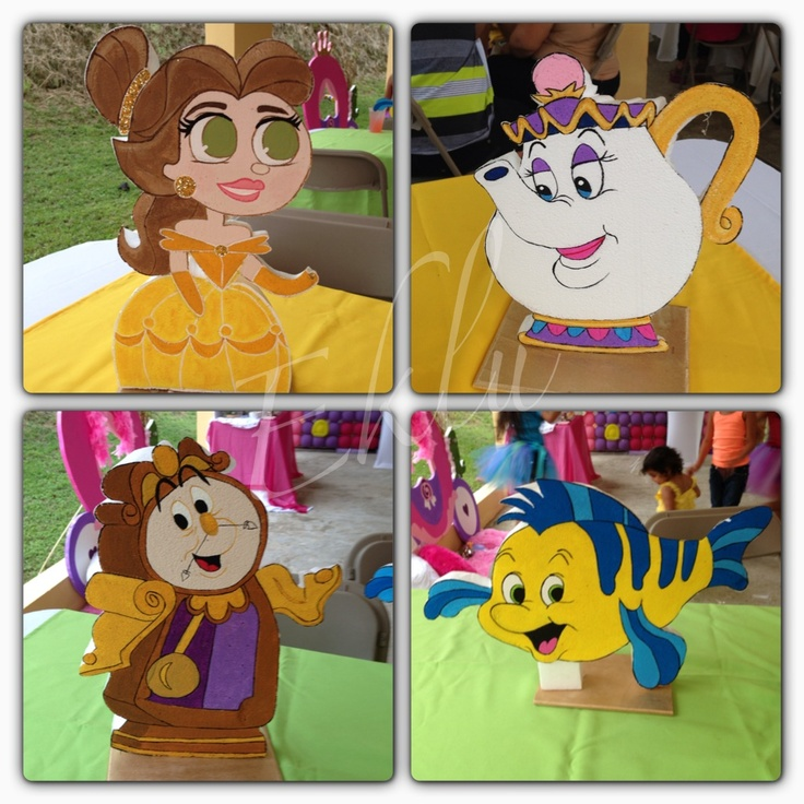 Princess Birthday! #centerpiece #princess #prince #eklu #birthday #belle #flounder