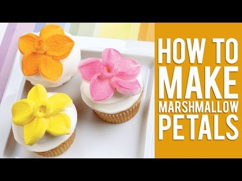 How to Top Your Cupcakes with Marshmallow Flowers - DIY & Crafts