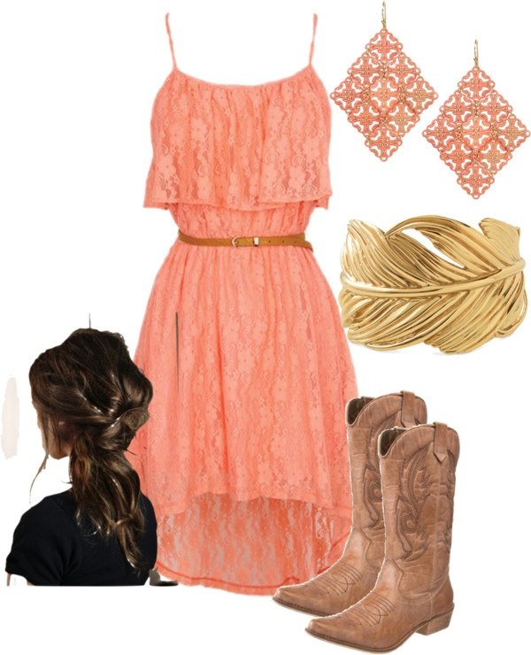 """pink sundress"" by bellalee2000 on Polyvore"