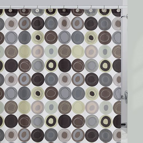 Creative Bath Dot Swirl Fabric Shower Curtain