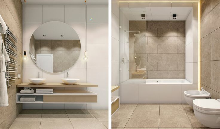 Beautiful bathroom design with modern white color... | Visit : roohome.com    #bathroom #bath #fabulous #interior #creative #interior #gorgeous #elegant