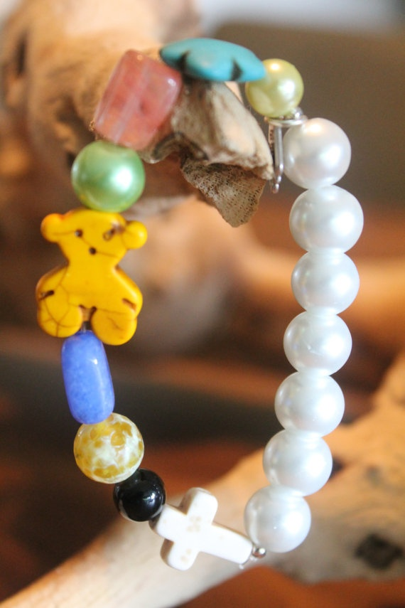 Multicolor Bracelet Tous Bracelet Bear by PearlsBoxForever on Etsy