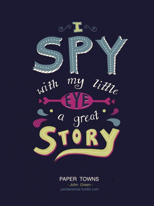 Here Paper towns john green pity