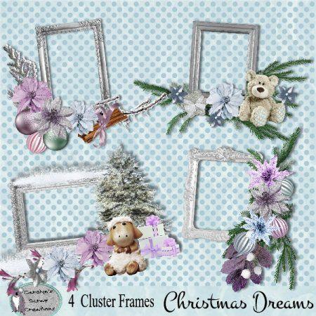 Christmas Dreams cluster frames