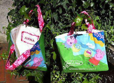 La parola d'ordine di oggi è RICICLARE! ..DIY borsa fatta con la carta delle uova di Pasqua by paLLina ^_^