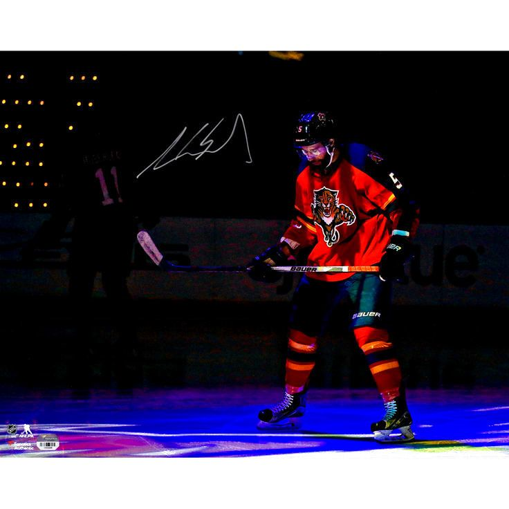 """Aaron Ekblad Florida Panthers Fanatics Authentic Autographed 16"""" x 20"""" Red Jersey In Spotlight Photograph - $43.99"""