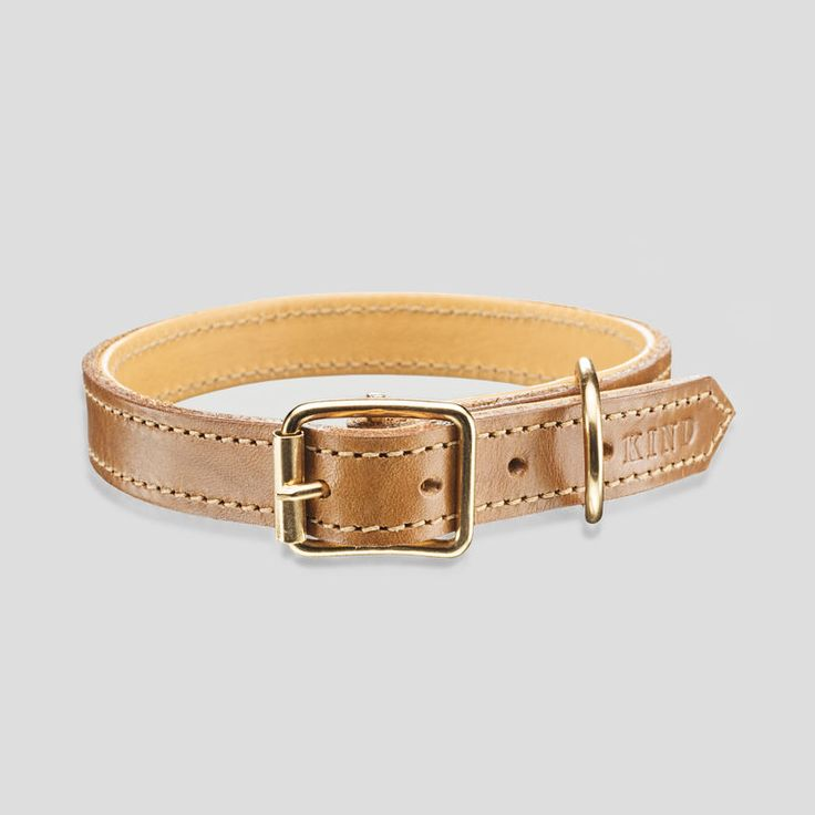 Kind collar in cognac from www.kindfordogs.fi