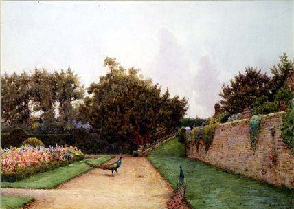 Sous la terrasse de Ernest Arthur Rowe (1863-1922, United Kingdom)