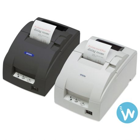 Imprimante matricielle à impact avec massicot | Imprime les tickets en bicolore noir et rouge |Bon rapport qualité prix sur www.waapos.com