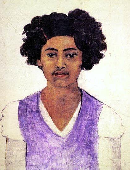 """""""selbstporträt"""" von Frida Kahlo (1907-1954, Mexico)"""