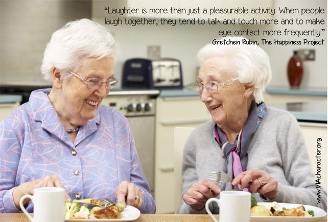 A #quote about #laughter #humor #friendship #VIAstrengths