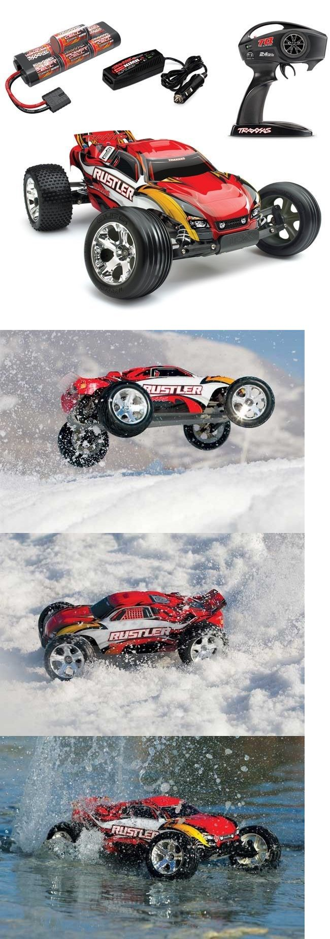 Cars Trucks and Motorcycles 182183: New Traxxas Rustler Xl-5 Rtr Rc Truck W Id Battery And Quick Charger Red 37054-1 -> BUY IT NOW ONLY: $189.95 on eBay!