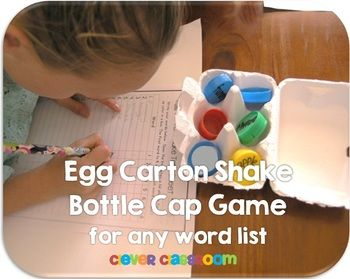 Egg Carton Shake Bottle Cap Center Game - $ (although could probably be a DIY)