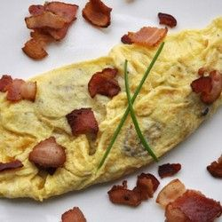 Bacon and Fried Potato Omelette