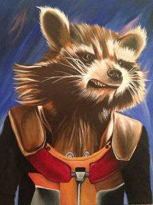 Rocket Guardians of the Galaxy acrylic painting