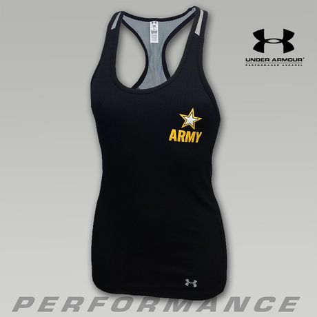 Under Armour Army Women's Mesh Back Victory Fitness Tank | ArmedForcesGear.com