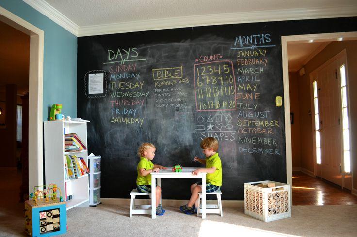 #chalkboard wall