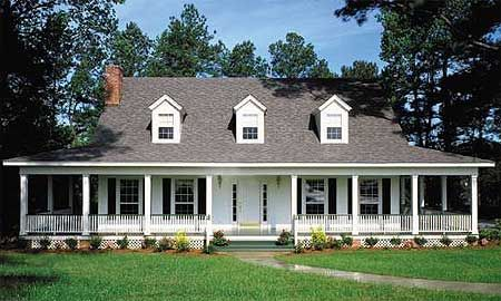 Country home with wrap around porch for Country homes plans with wrap around porches