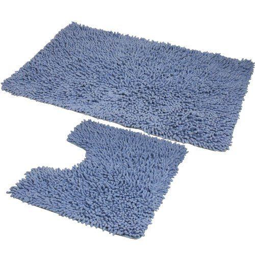 Accesorio para baño - Juego de alfombrillas para baño - http://tienda.casuarios.com/jvl-juego-de-alfombrillas-para-bano-50-x-80-cm-y-50-x-40-cm-color-azul/