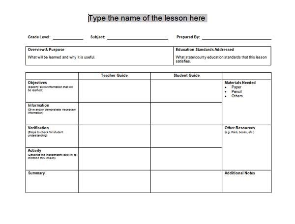 1000 ideas about Free Lesson Plan Templates – Free Daily Lesson Plan Template