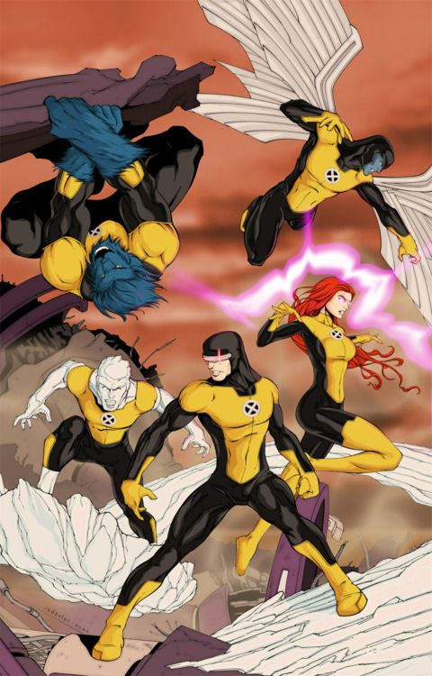 Original X-Men. I really like these outfuts better than the ones in All-New and First Class.